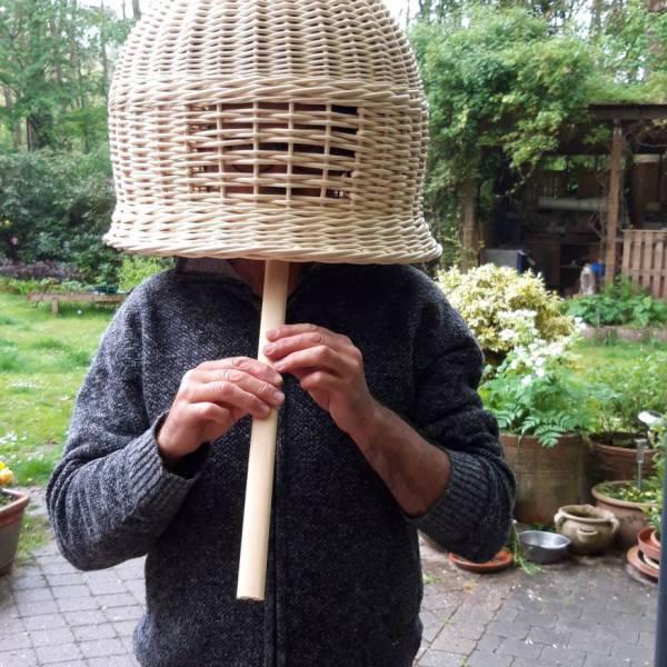 Komusō  tengai hat, shakuhachi